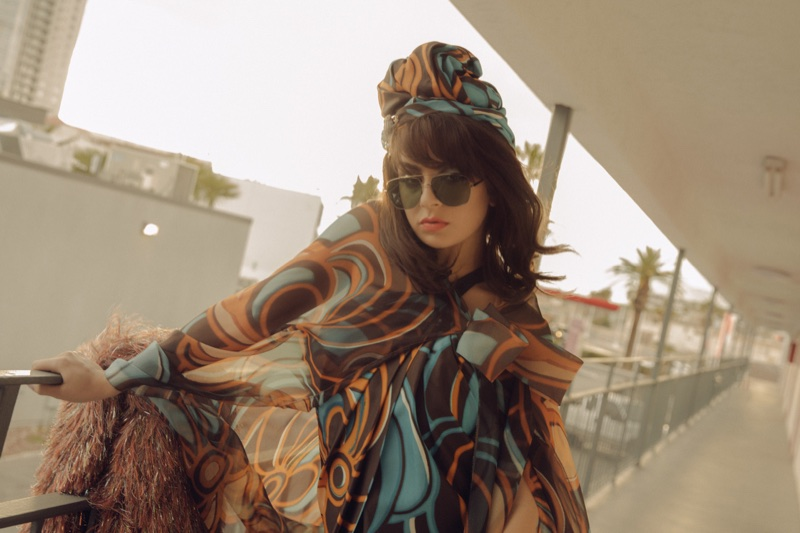 Charli XCX poses in Marc Jacobs Eyewear spring-summer 2018 campaign