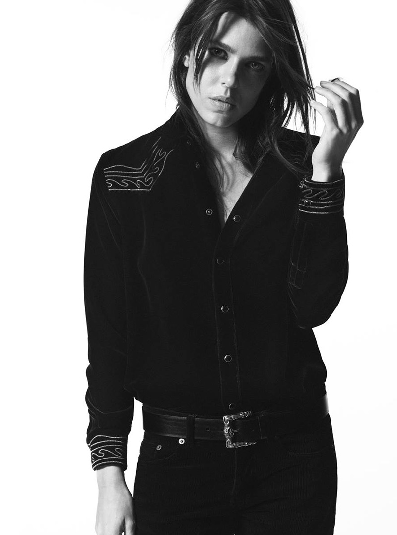 Charlotte Casiraghi stars in Saint Laurent's fall-winter 2018 Campaign