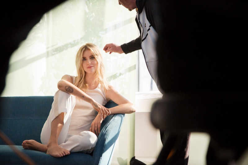 Chiara Ferragni behind-the-scenes at Intimissimi campaign shoot