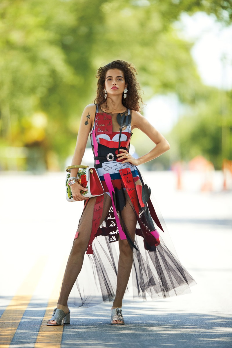 Chiara Scelsi Models Vibrant Prints for The Daily Summer