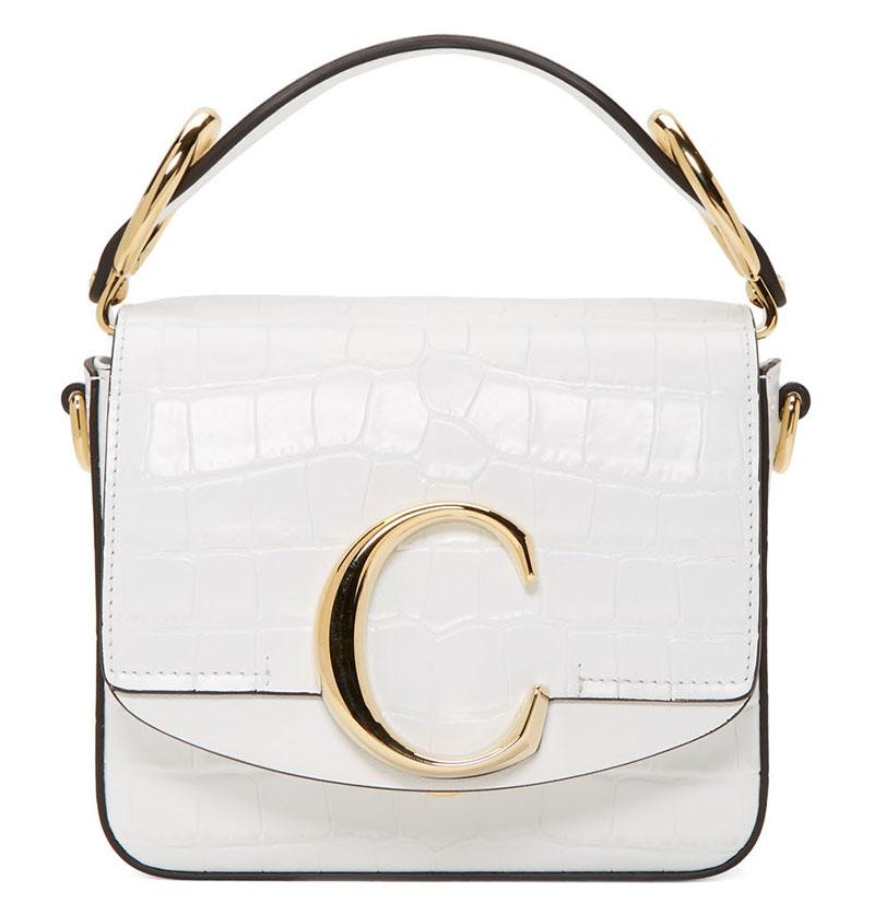 Chloe White Mini Chloe C Bag $1,369 (previously $1,690)