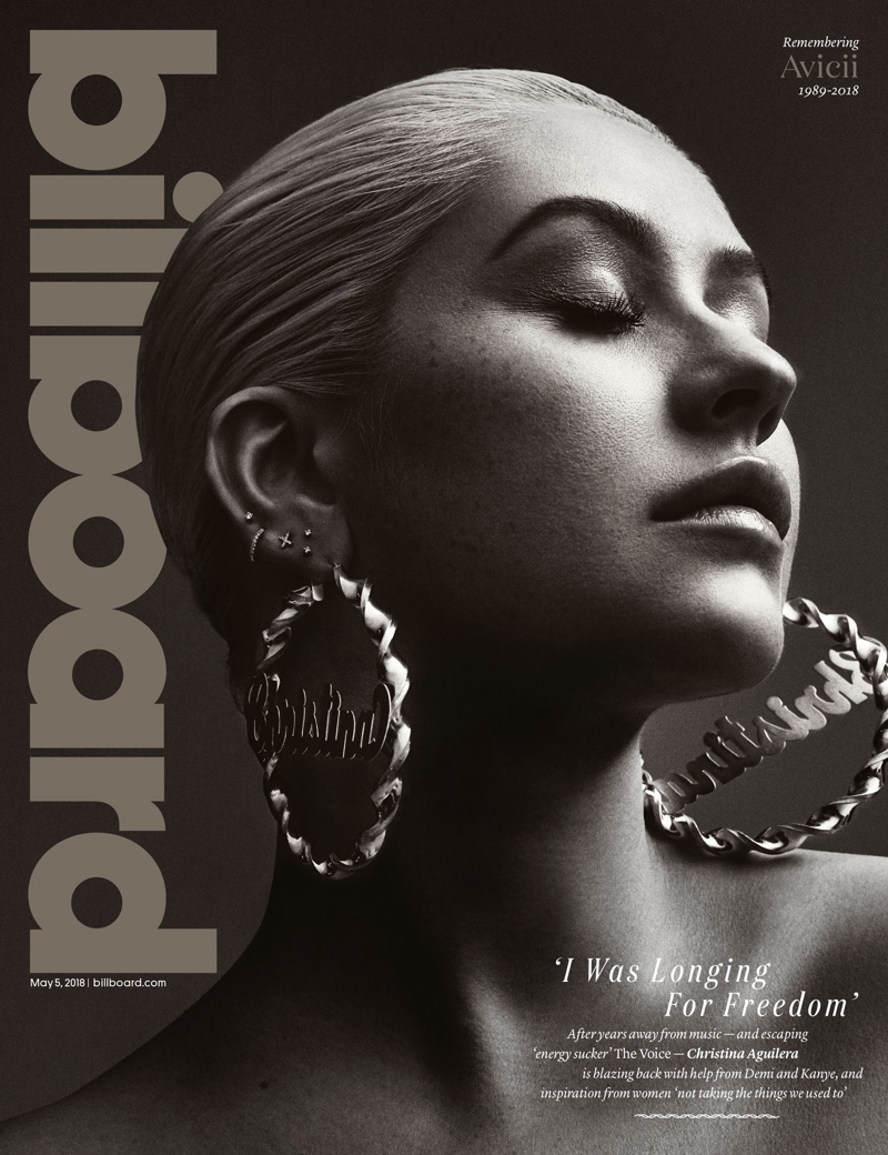 6709325bfa Christina Aguilera on Billboard Magazine May 5