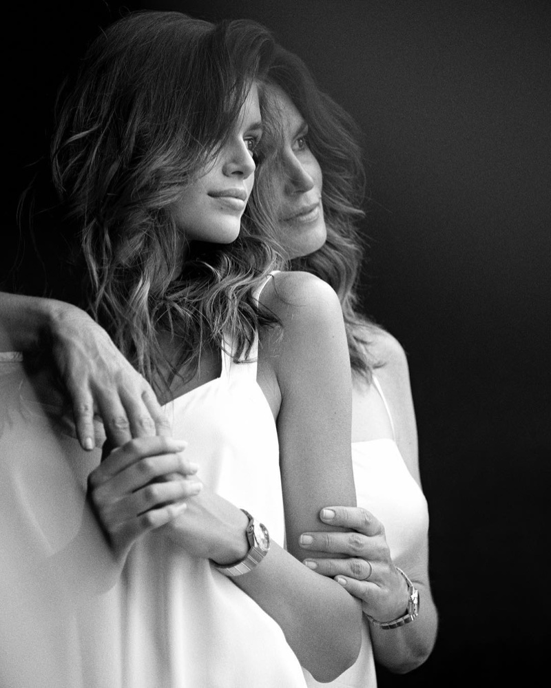 BEHIND THE SCENES: Kaia Gerber and Cindy Crawford pose in Malibu for OMEGA Watches