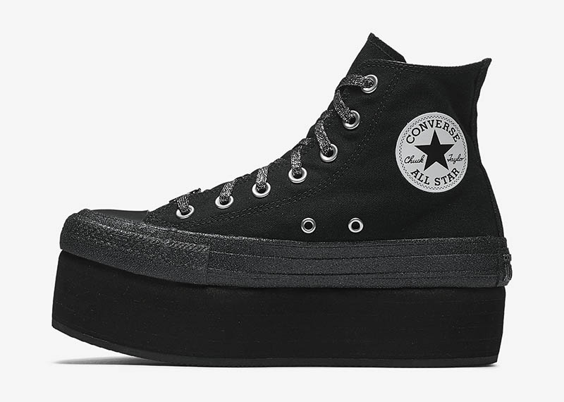 Converse x Miley Cyrus Chuck Taylor All Star Platform High Top in Black $95