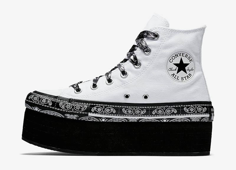 Converse x Miley Cyrus Chuck Taylor All Star Platform High Top in White $95