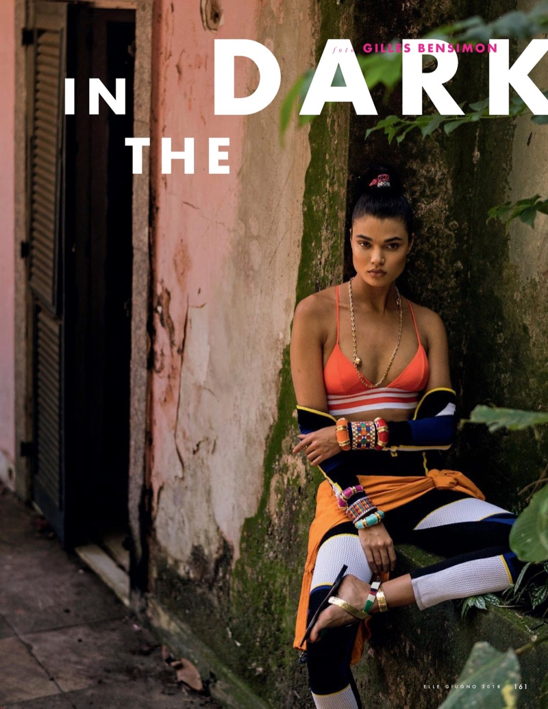 Daniela Braga Takes On the Neon Trend for ELLE Italy