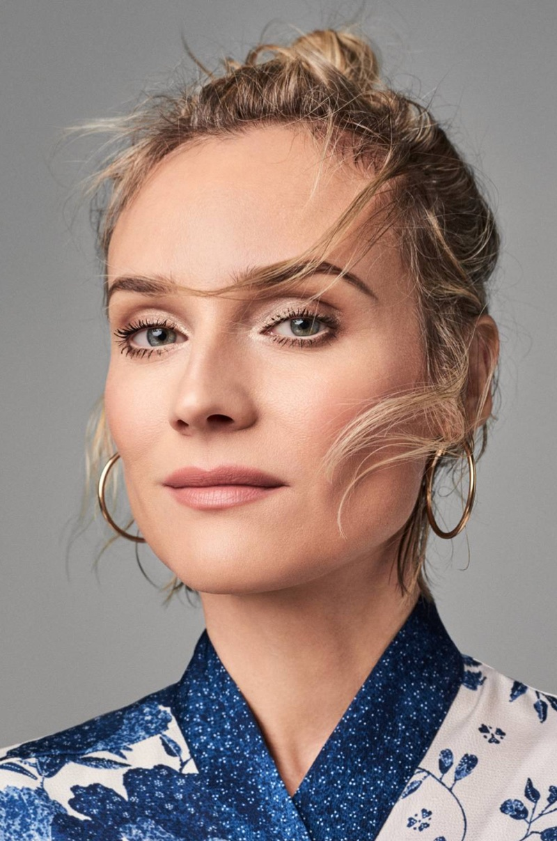Diane Kruger looks glam in H&M photoshoot