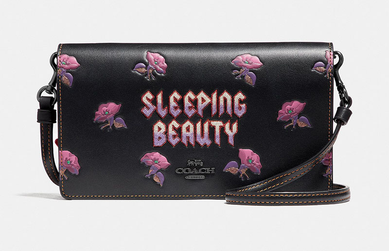 Disney x Coach Sleeping Beauty Foldover Crossbody Clutch $275