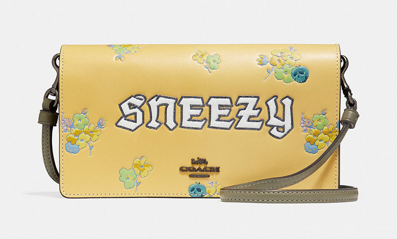 Disney x Coach Sneezy Foldover Crossbody Clutch $275