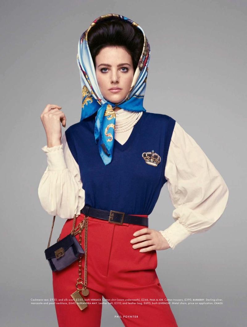 Eliza Cummings Poses in Princess Perfect Styles for ELLE UK
