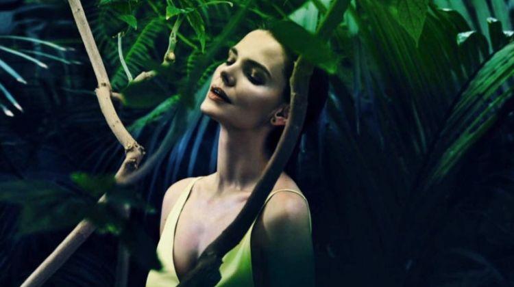 Elizaveta Boyarskaya Poses in Chic Jewel Tones for InStyle Russia