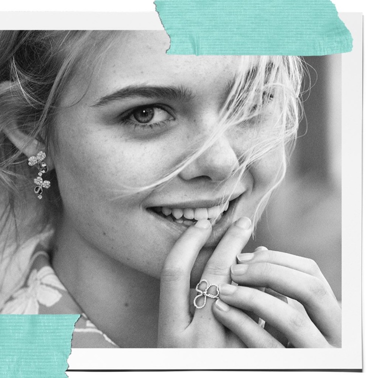 Elle Fanning is all smiles in Tiffany & Co. Believe in Dreams campaign