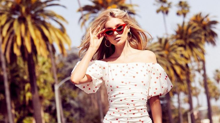 Elsa Hosk wears sun dress in Bik Bok x Elsa Hosk campaign