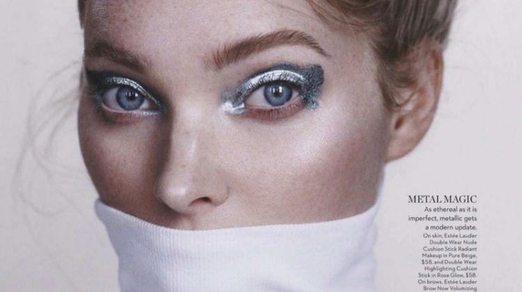 Elsa Hosk Wears Bold Makeup Looks for Vogue Australia
