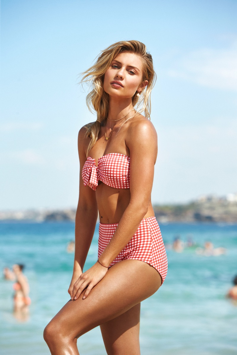 Elyse Knowles stars in Seafolly's summer 2018 campaign