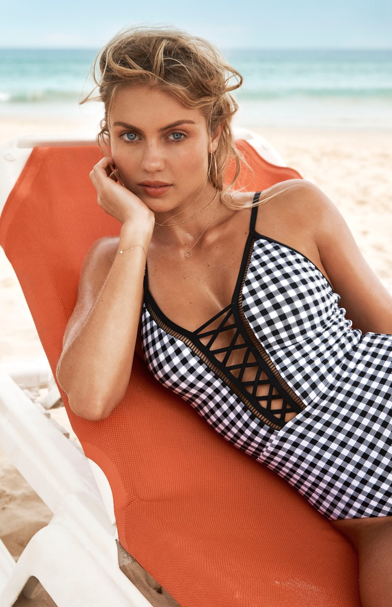 Seafolly features gingham print swimsuit in summer 2018 campaign
