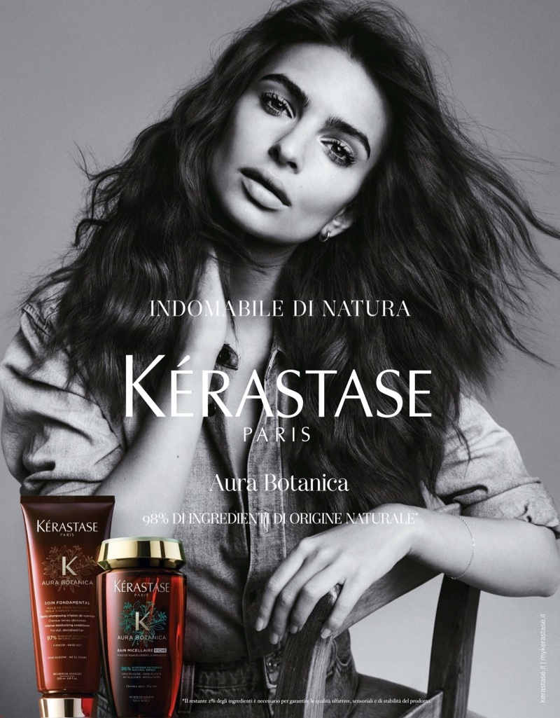 Emily Ratajkowski stars in Kérastase haircare campaign