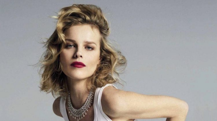 Eva Herzigova Poses in Elegant Styles for Vanity Fair Italy