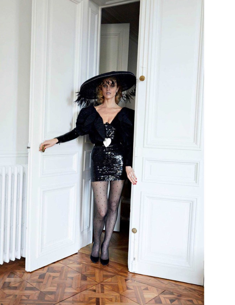 Eva Herzigova Makes Sweet Music in Elegant Styles for Vogue Paris