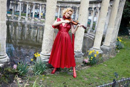 Eva Herzigova Makes Sweet Music in Elegant Styles for Vogue Paris