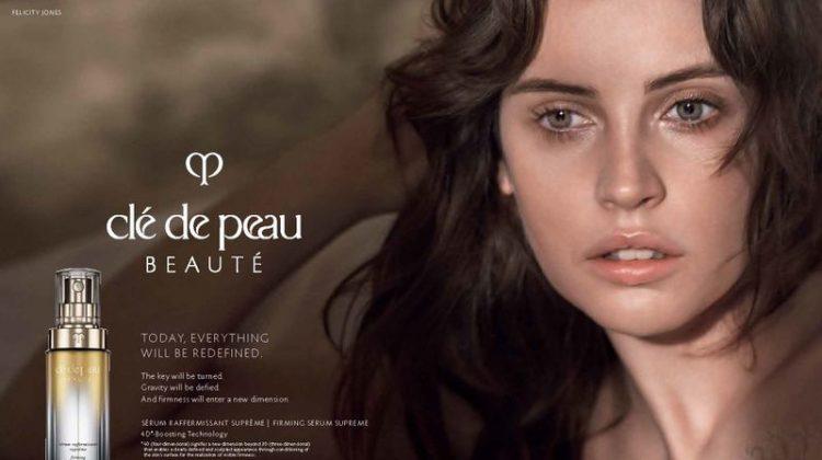 Felicity Jones stars in Clé de Peau Beauté campaign