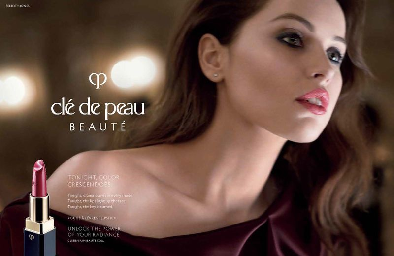 Actress Felicity Jones wows for Clé de Peau Beauté campaign