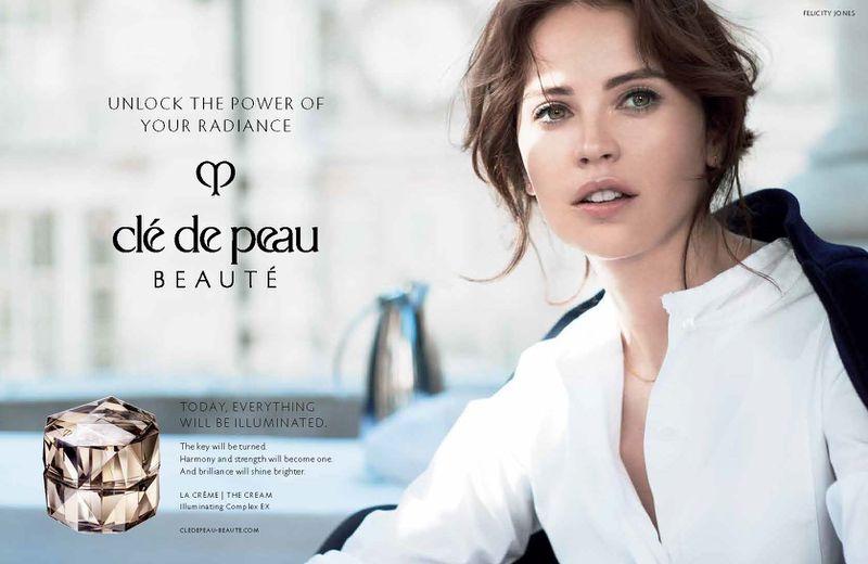 Clé de Peau Beauté campaign enlists Felicity Jones as the face of its new campaign