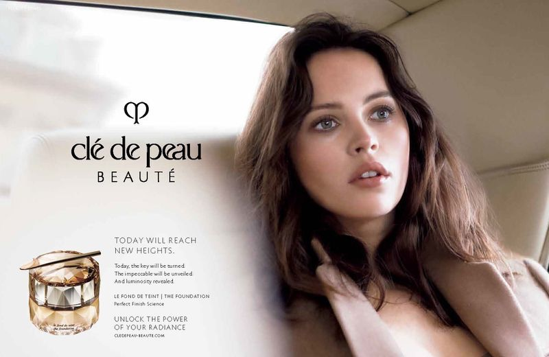 Felicity Jones appears in Clé de Peau Beauté campaign