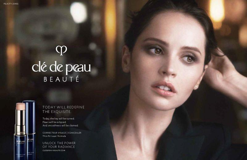 Actress Felicity Jones fronts in Clé de Peau Beauté campaign