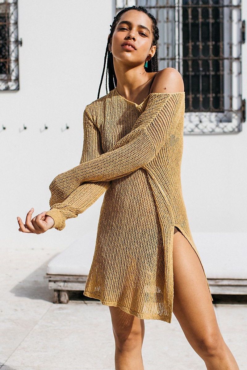 FP Beach Fishnet Sweater