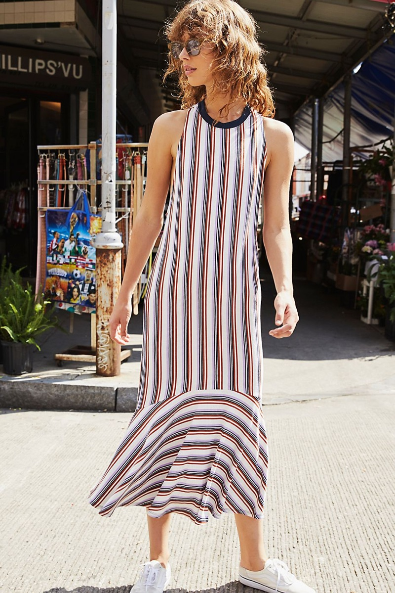 Free People Luca Square Sunnies and Fallin' For You Midi Dress