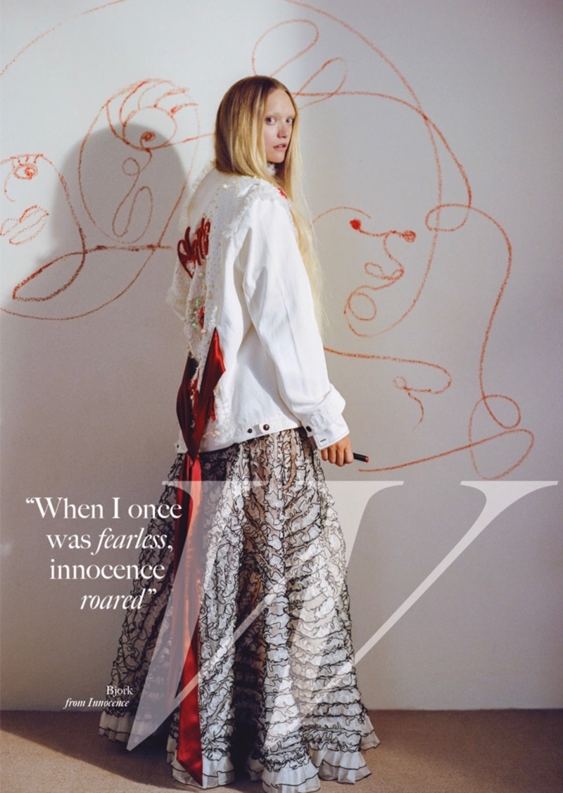 Gemma Ward Wears Whimsical Styles for Glass Magazine
