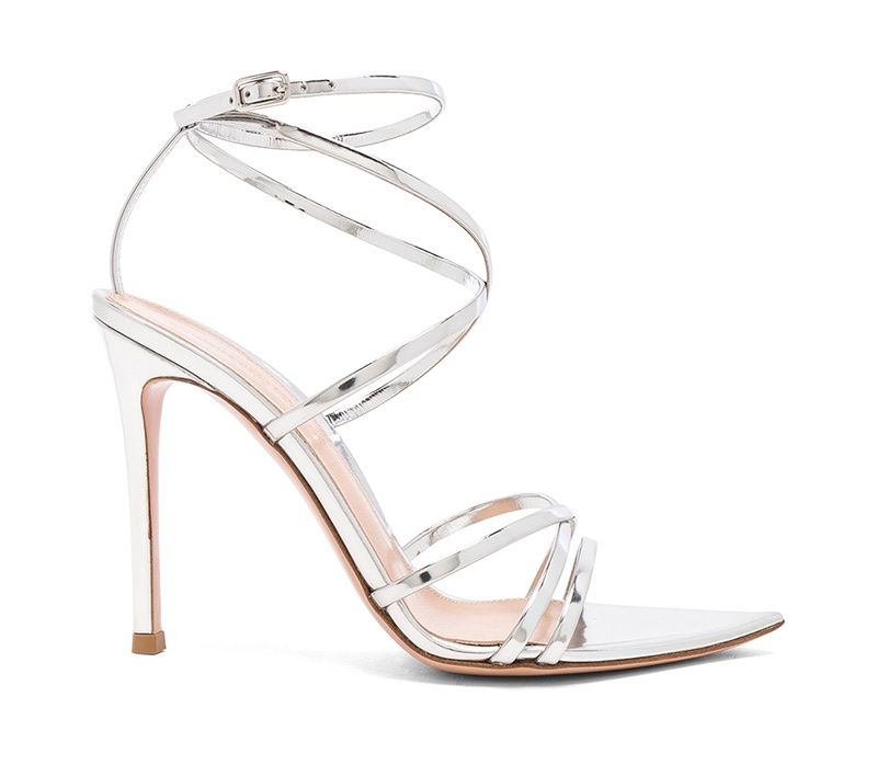 Gianvito Rossi Kim Metallic Leather Sandals $820