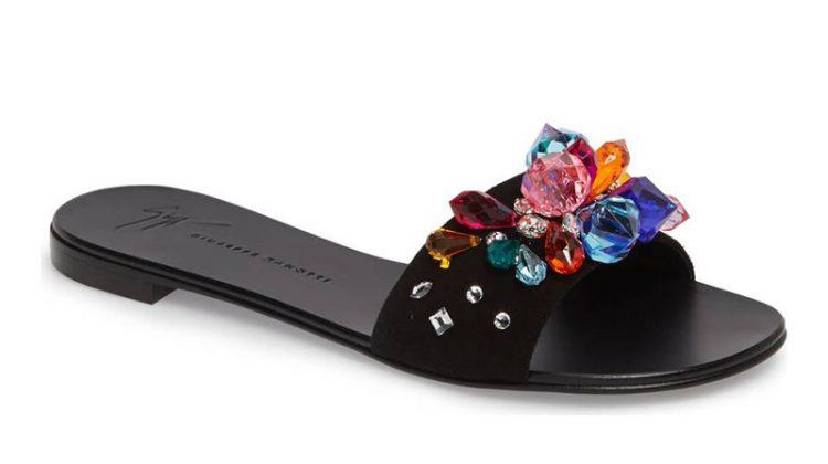 Giuseppe Zanotti Embellished Slide Sandal $398.98 (previously $650)
