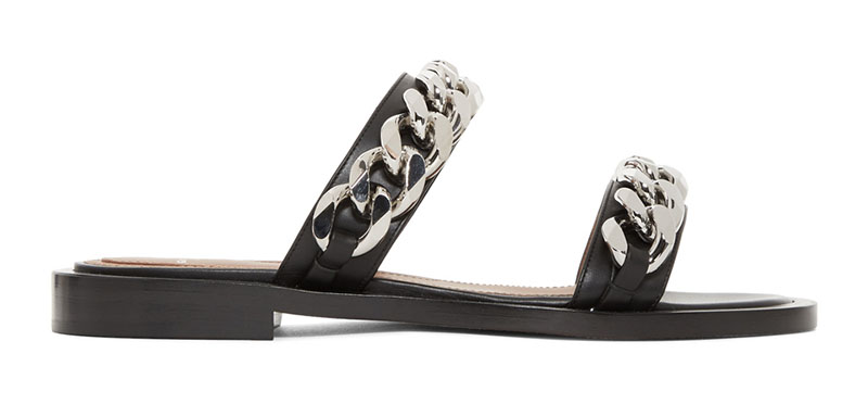 Givenchy Double Chain Flat Sandals $662 (previously $895)