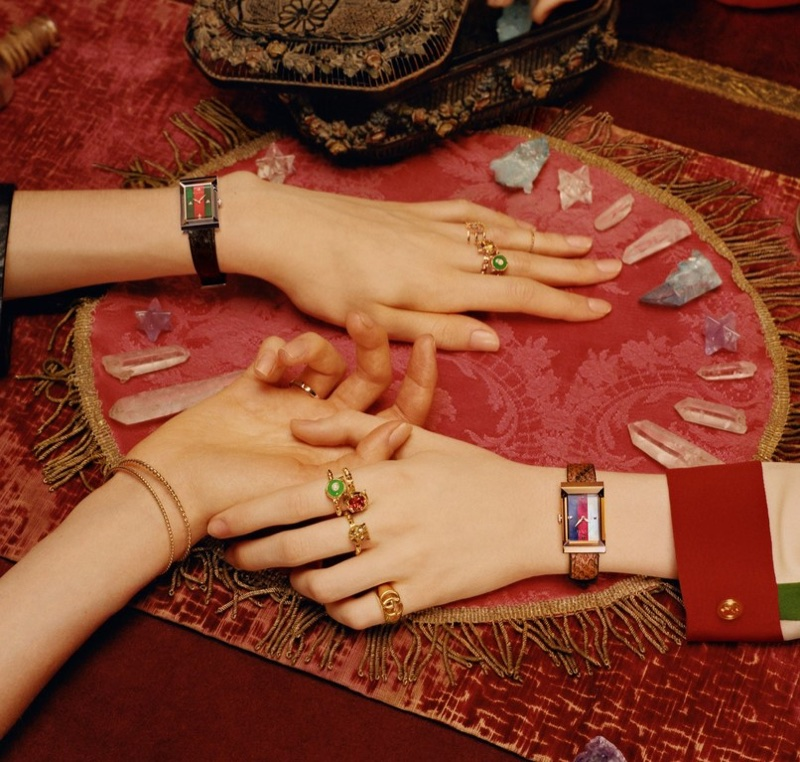An image from Gucci's 2018 Timepieces + Jewelry campaign