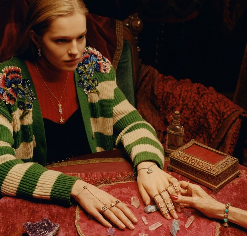 Emily Unkles appears in Gucci 2018 Timepieces + Jewelry campaign