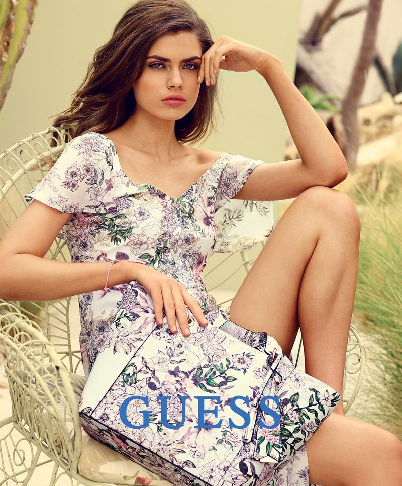 Gwen van Meir stars in Guess Accessories spring-summer 2018 campaign