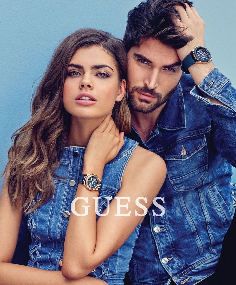 Gwen van Meir and Nick Bateman front Guess Accessories spring-summer 2018 campaign