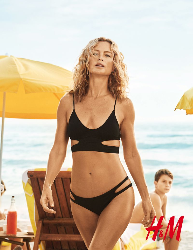 Carolyn Murphy rocks a swimsuit in H&M's summer 2018 campaign