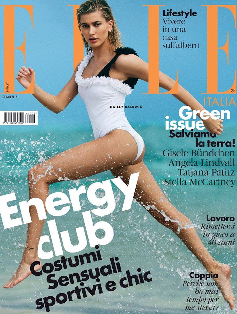 Hailey Baldwin Looks Ready for Swimsuit Season in ELLE Italy