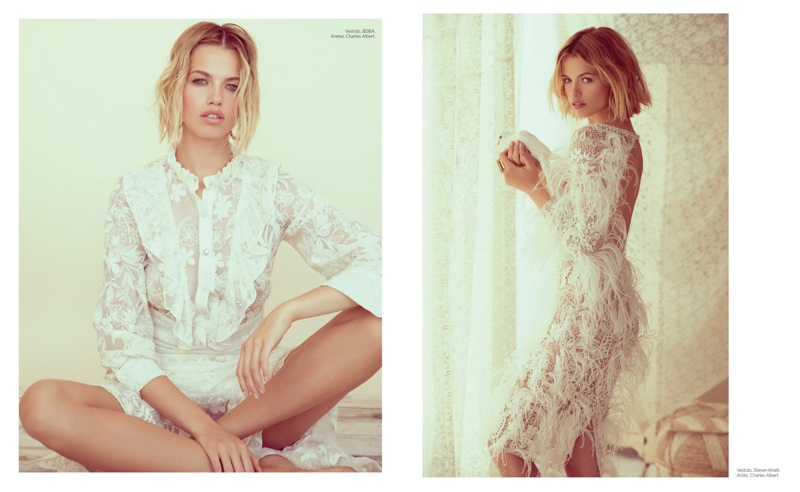 Hailey Clauson Models Sheer Styles for Harper's Bazaar en Español