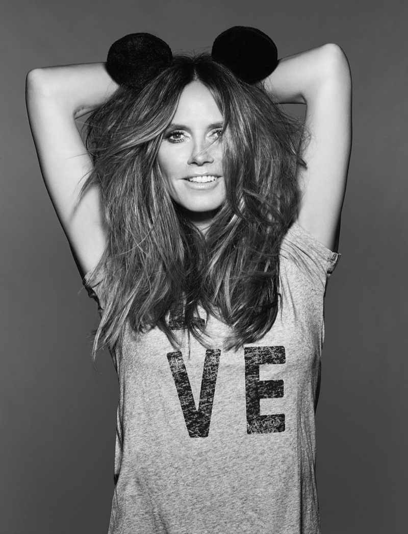 Heidi Klum appears in Mickey Mouse & Me book. Photo: Rankin
