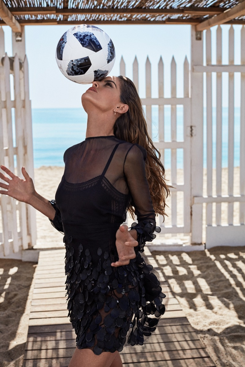 Izabel Goulart Gets Glam On the Beach for ELLE Russia