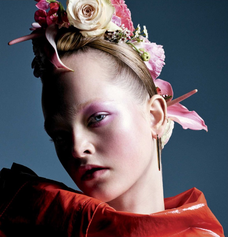 Jean Campbell Wows in Flower Beauty Looks for Allure