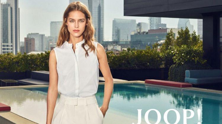 Julia Jamin Charms in Milan for JOOP! Spring 2018 Campaign
