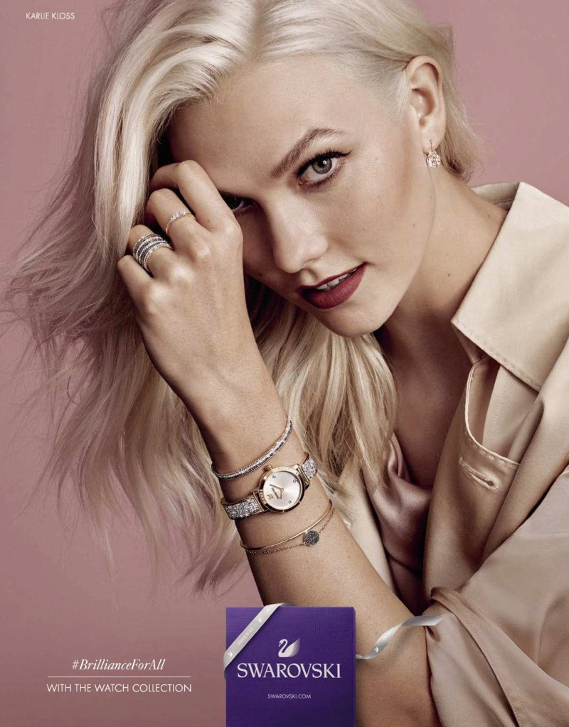 Swarovski taps Karlie Kloss for its Watch campaign
