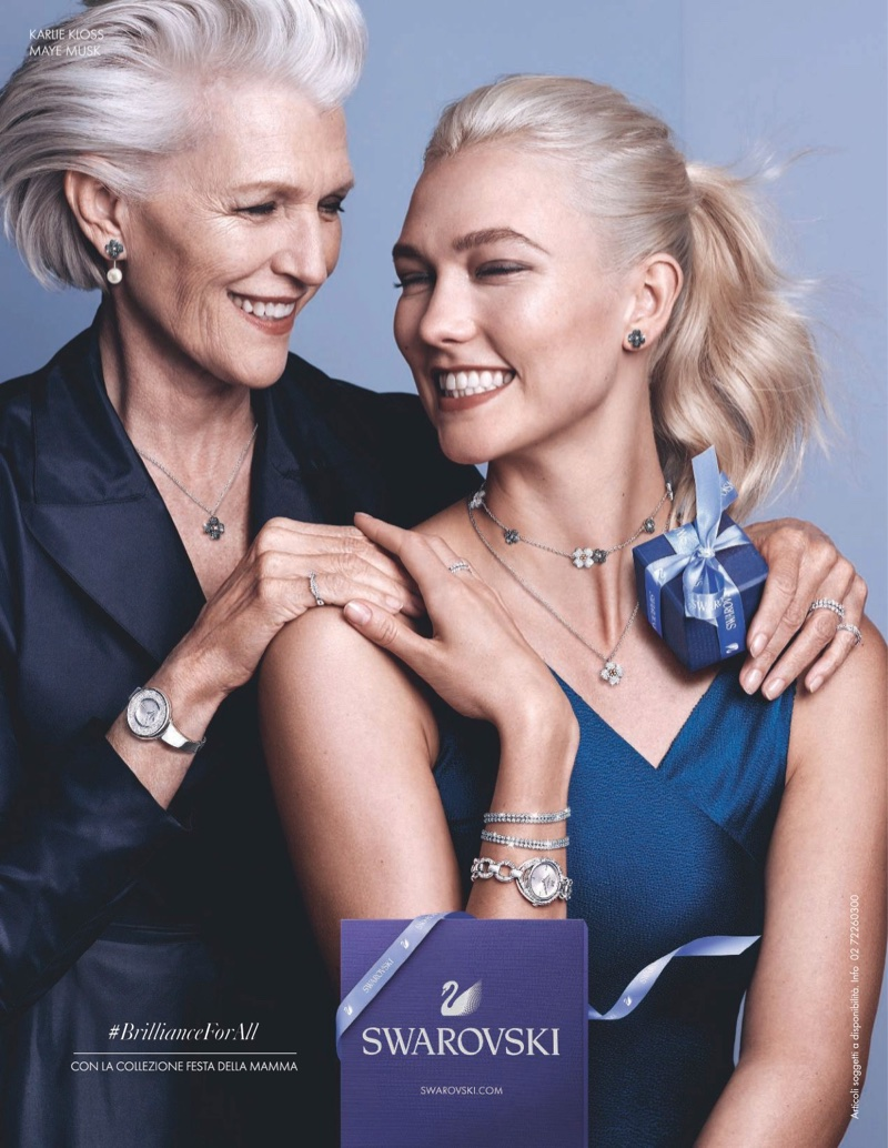 Maye Musk and Karlie Kloss front Swarovski Mother's Day 2018 campaign