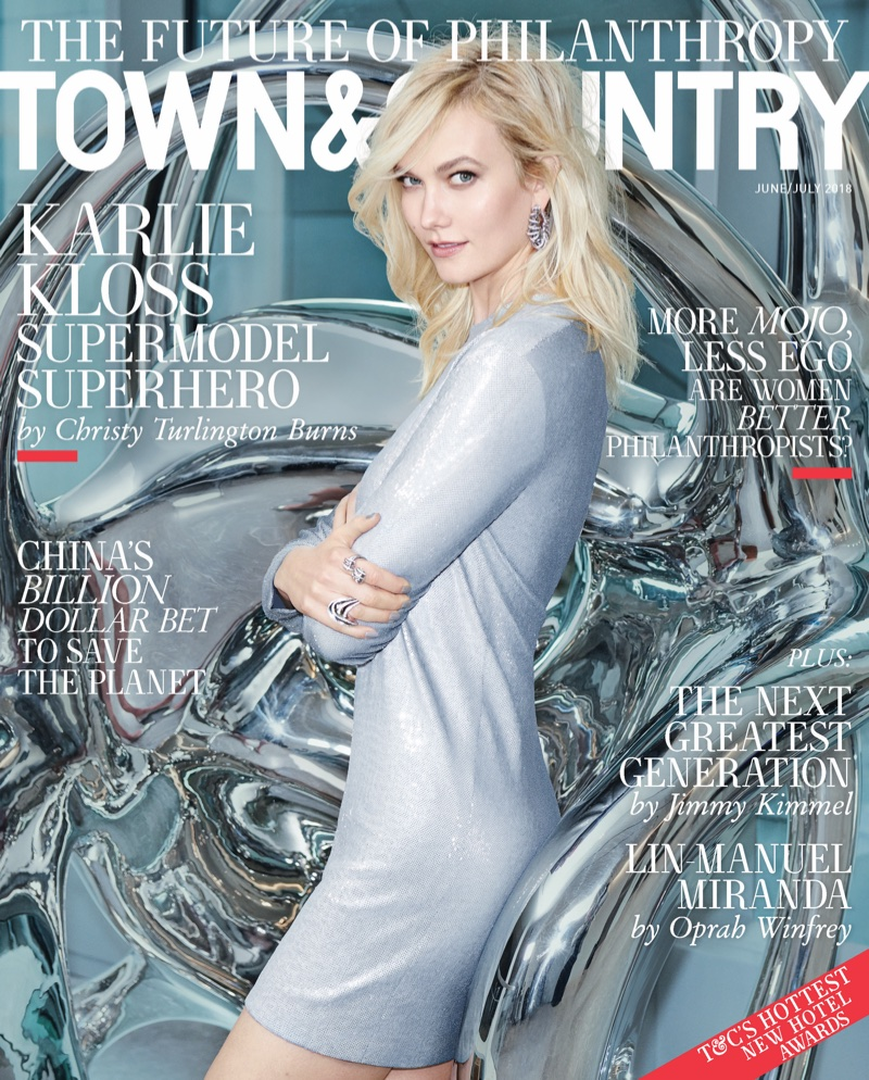Karlie Kloss on Town & Country June/July 2018 Cover