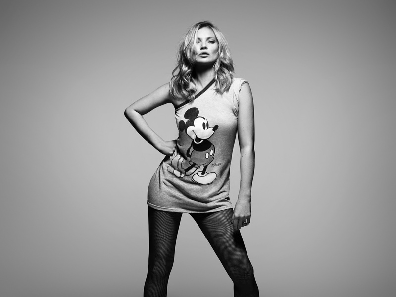 Kate Moss appears in Mickey Mouse & Me. Photo: Rankin